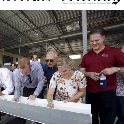 Topping Out Ceremony Brings Pride to New Braunfels Officials